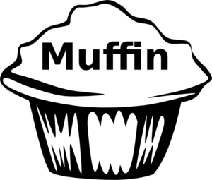 clip Panda free images muffinclipart. Muffin clipart black and white.