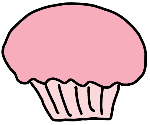 jpg freeuse stock Black and White Cupcake Clipart