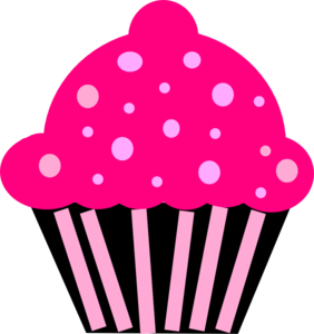 clipart royalty free stock Pencil and in color. Muffin clipart pink cupcake.