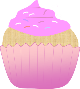 jpg royalty free library Muffin clipart pink cupcake. Clip art.
