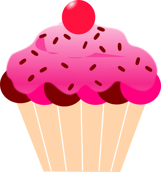 clip art library Free on dumielauxepices net. Muffin clipart pink cupcake.