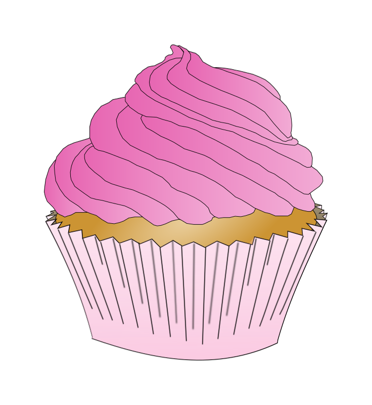 svg transparent stock Muffin clipart pink cupcake. Medium image png .