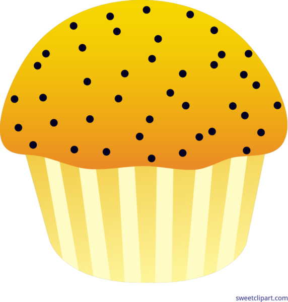 picture royalty free library Muffin clipart poppy seed. Sweet clip art page.