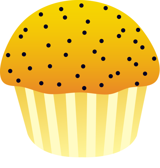vector free Lemon free clip art. Muffin clipart poppy seed.