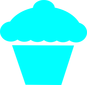 image freeuse stock Cupcake teal clip art. Muffin clipart turquoise.