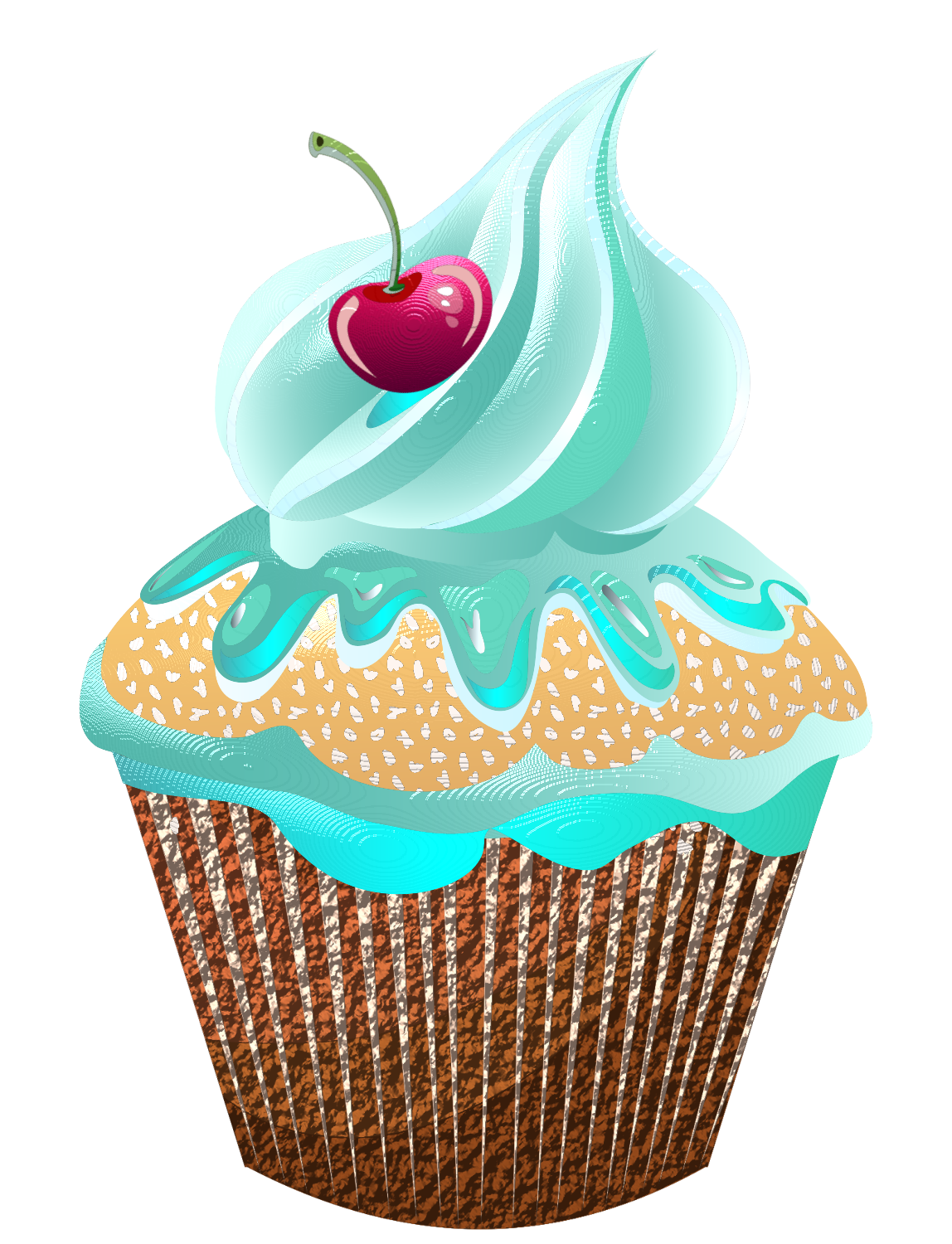 clipart royalty free stock drawing cupcake realistic #93961322