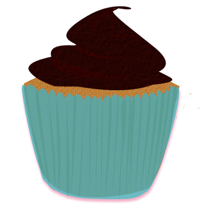 clipart royalty free library Brown cupcake clip art. Muffin clipart turquoise.
