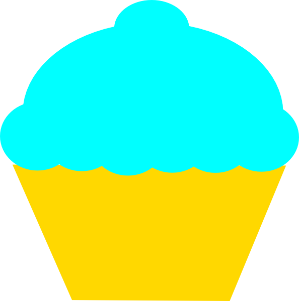 image freeuse download Muffin clipart turquoise. Jasmine cupcake clip art.
