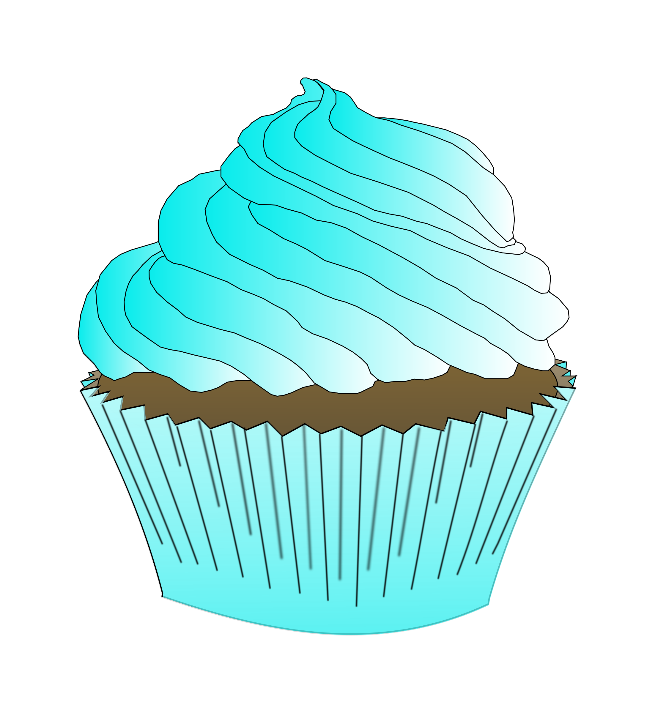 clip art download Chocolate teal cupcake big. Muffin clipart turquoise.