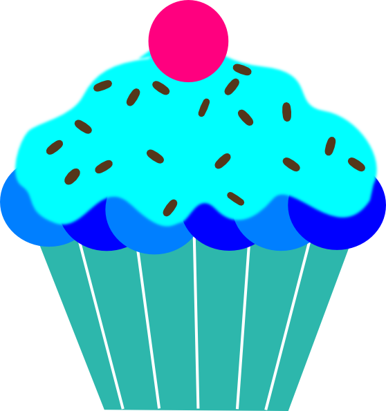 graphic Blue cupcake free on. Muffin clipart turquoise.
