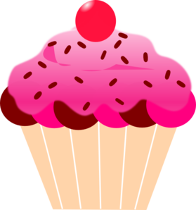 graphic transparent Pink Cupcake Clip Art at Clker