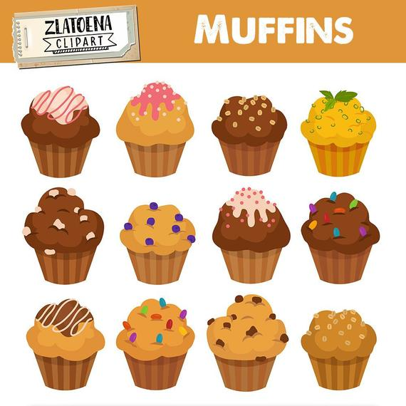 vector free stock Muffins clipart. Muffin cupcake digital bakery.