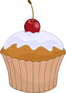 banner Muffin clip art at. Muffins clipart.