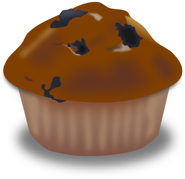 jpg transparent stock Chocolate Muffin Clip Art at Clker