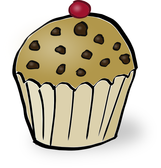 vector freeuse download Muffins clipart cat. Chocolate chips muffin i.