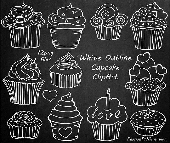 image free Muffins clipart chalkboard. Pin by etsy on.
