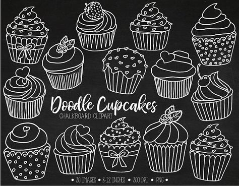 svg free library Muffins clipart chalkboard. The cutest doodle cupcake.