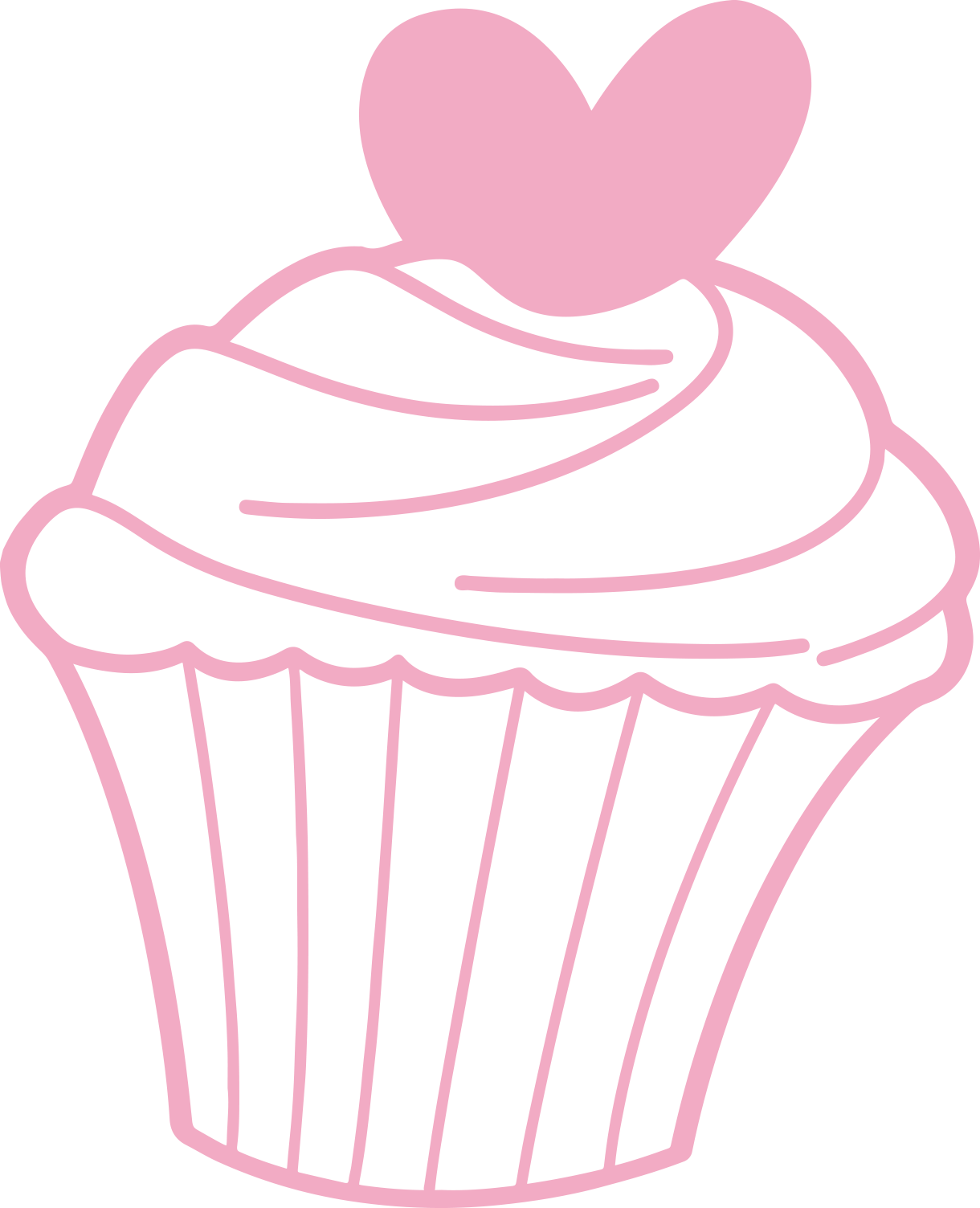 black and white library Pink baking cup cupcake. Muffins clipart elegant
