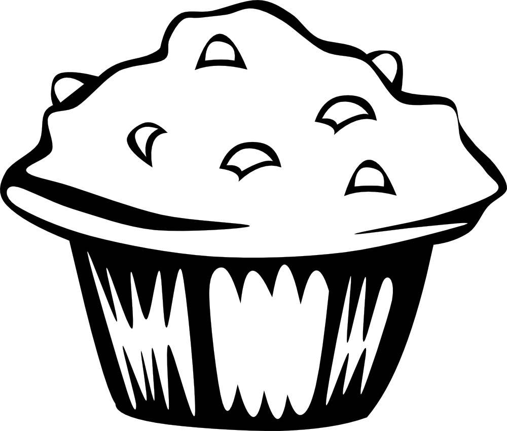 png free Baking drawing black and white. Muffin clipart panda free