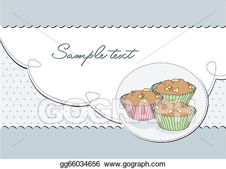 freeuse download Muffins clipart elegant. Vector stock background with