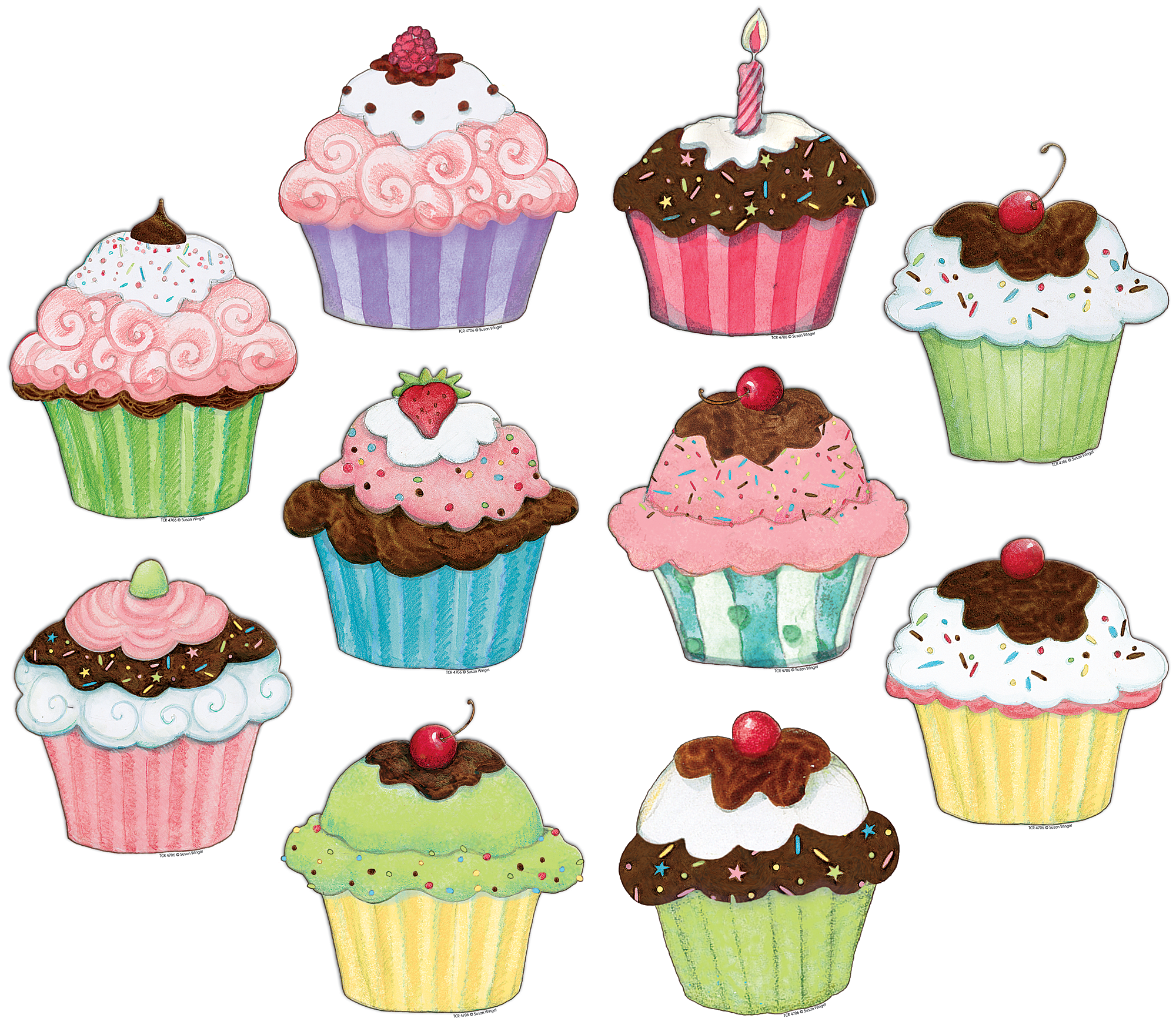 clipart free library Muffins clipart january. Cupcakes accents from susan.