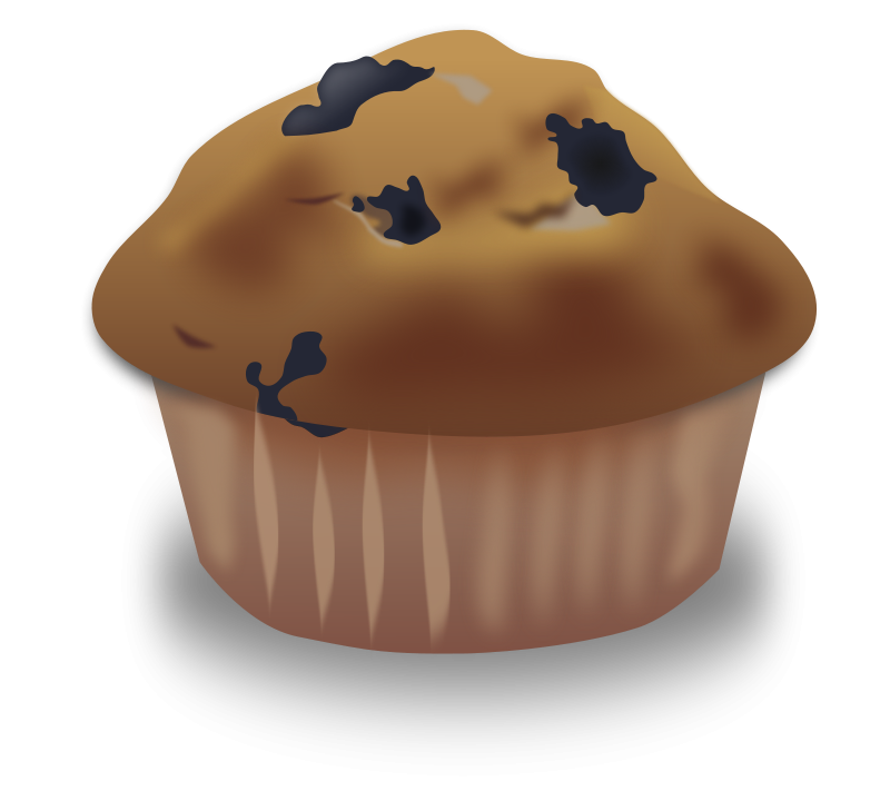 vector Blueberry muffin black and. Muffins clipart mini cupcake.