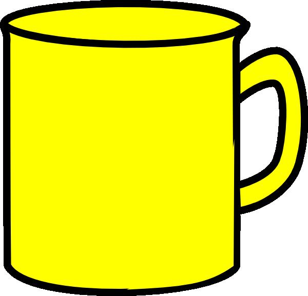 freeuse stock Yellow clip art at. Mug clipart.