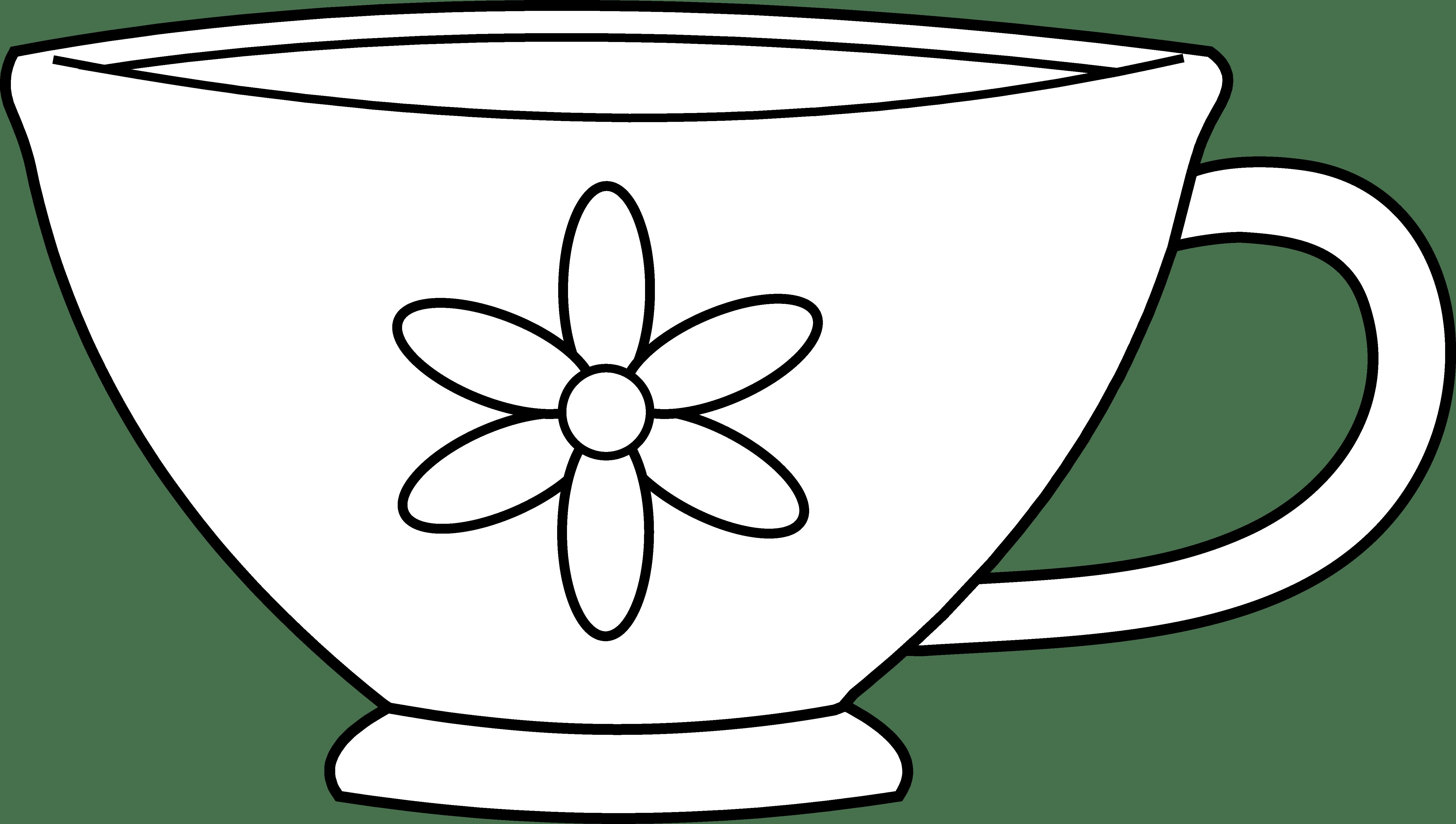 jpg freeuse stock Mug clipart colouring page. Cup coloring democraciaejustica simple.