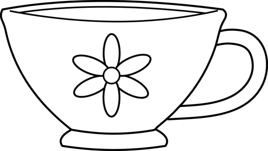 graphic royalty free library Mug clipart colouring page. Top cup coloring pages.