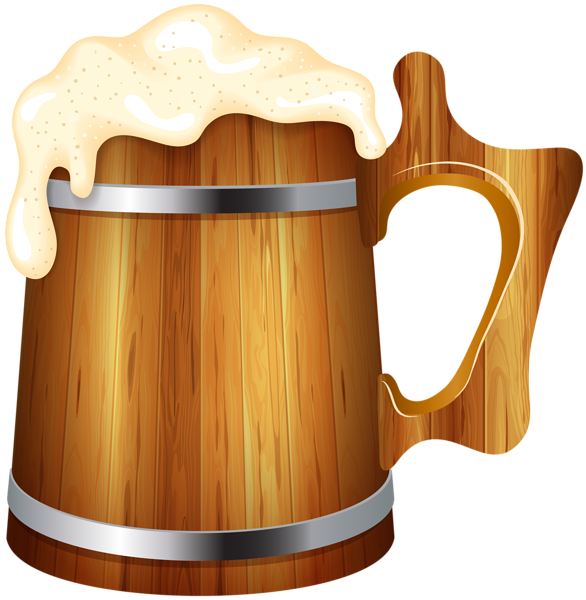 vector black and white library Mug clipart jug. Wooden beer png clip.