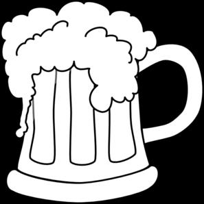 clip freeuse download Mug clipart jug. Beer outlined clip art.