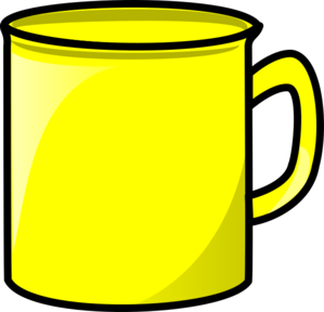 graphic free Mug clipart line art. Yellow clip at clker.