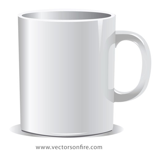 vector library Free White Coffee Mug PSD files