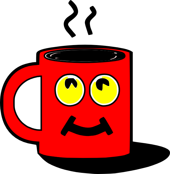 picture transparent library Red mug clip art. Mugs clipart