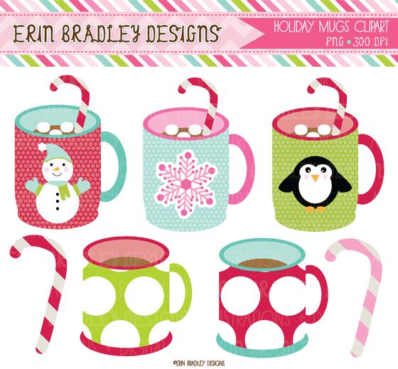 clip art free library Erin bradley designs christmas. Mugs clipart winter.