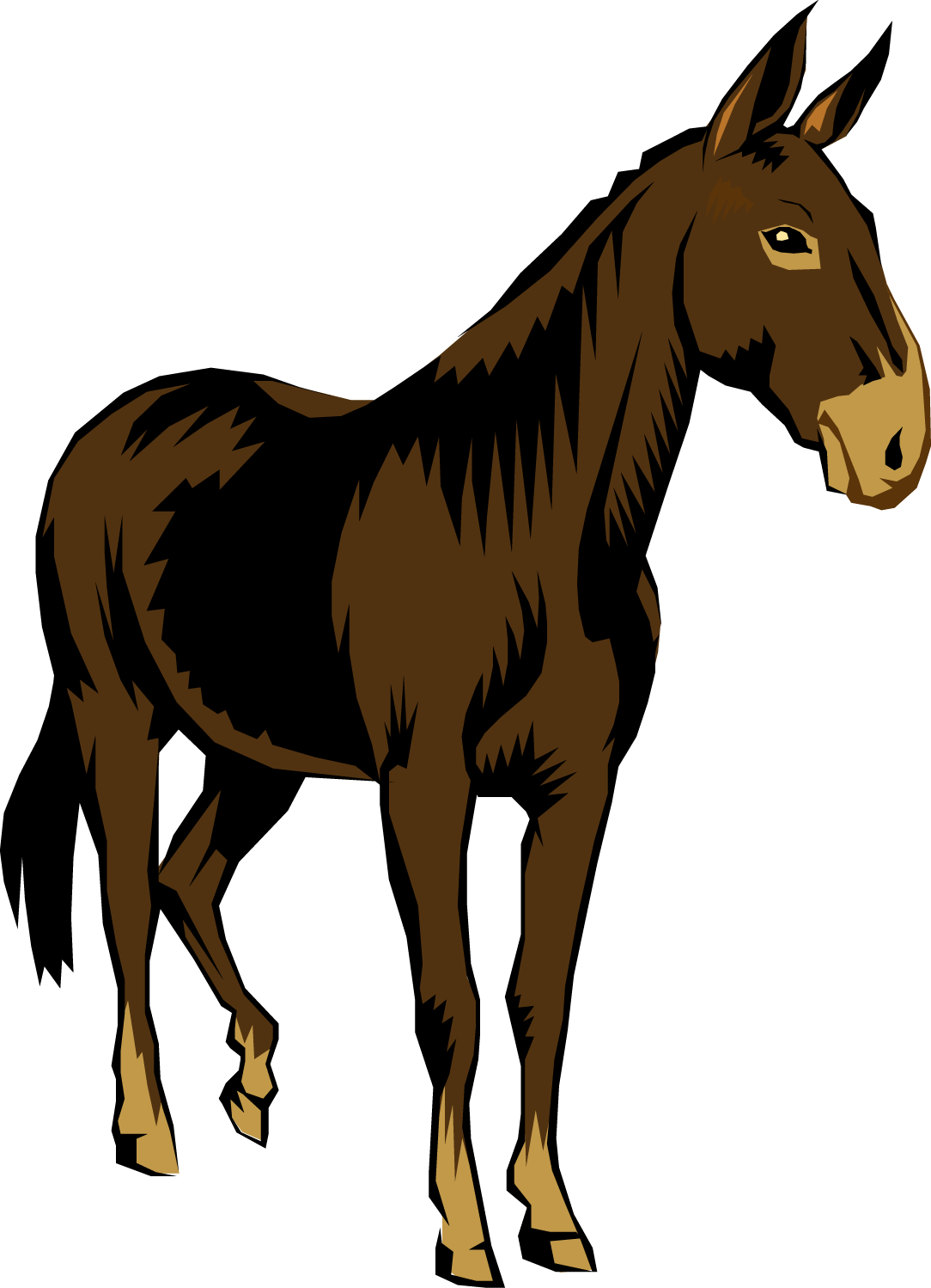 svg stock Clip art of a. Mule clipart brown.