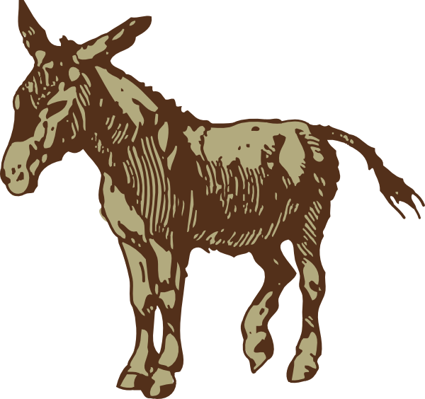 graphic royalty free download Mule clipart brown. Donkey clip art at.