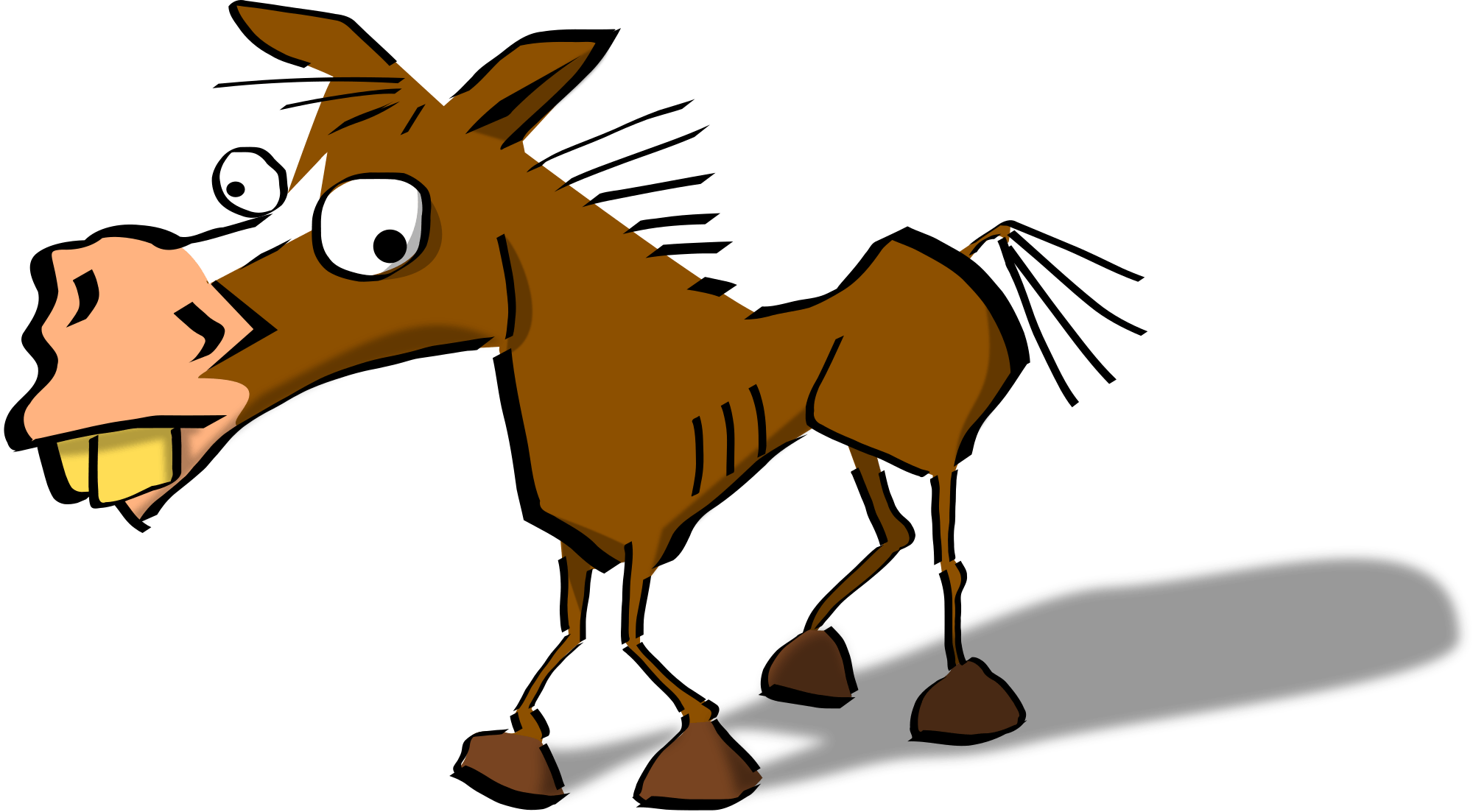banner freeuse library Quarter horse at getdrawings. Mule clipart brown.