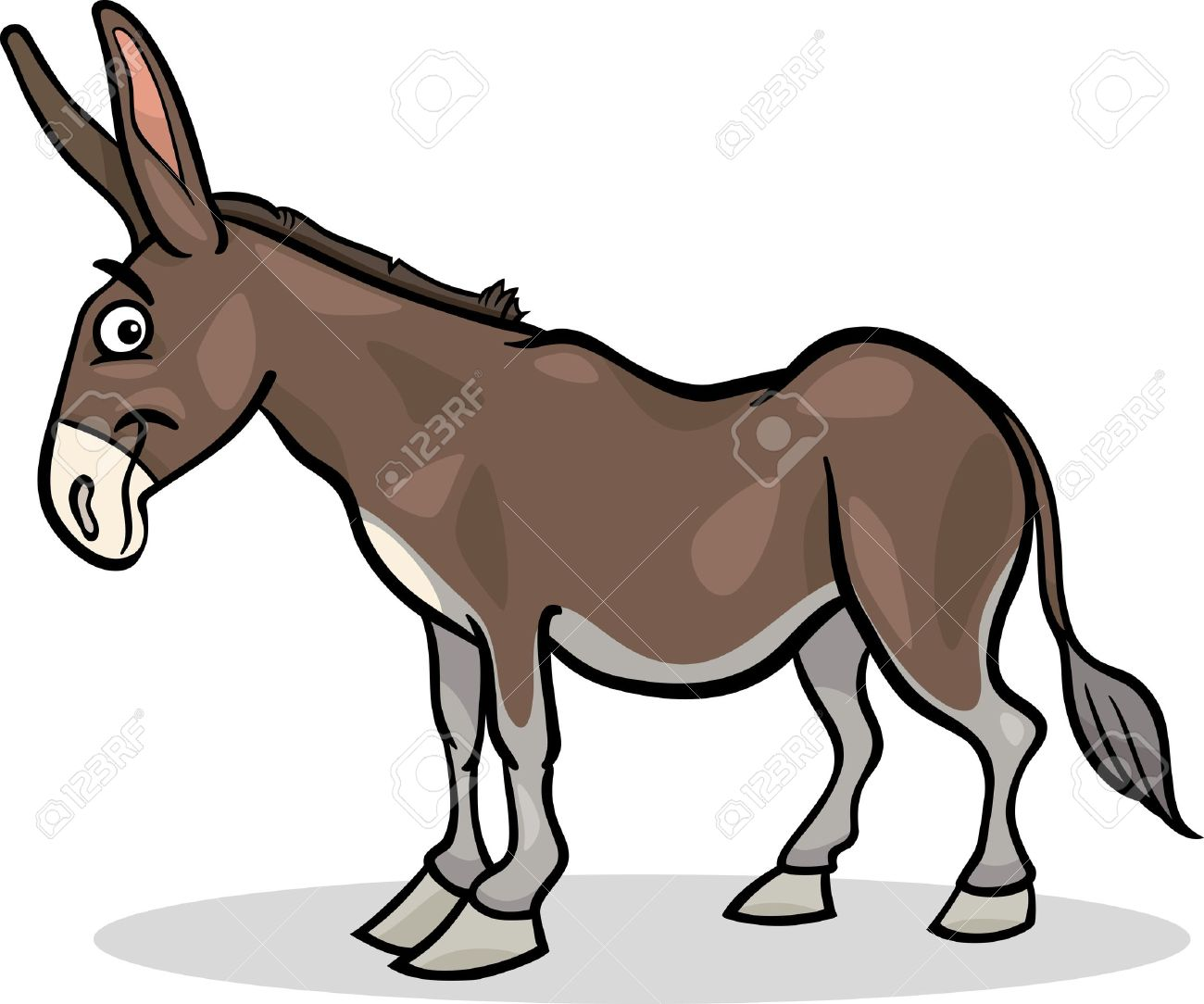 image stock Mule clipart donkey tail. Pin the on drawing.
