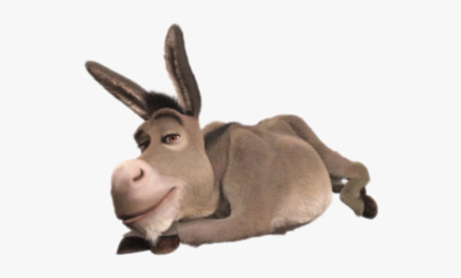 svg freeuse download Donkey from shrek laying. Mule clipart dunkey.