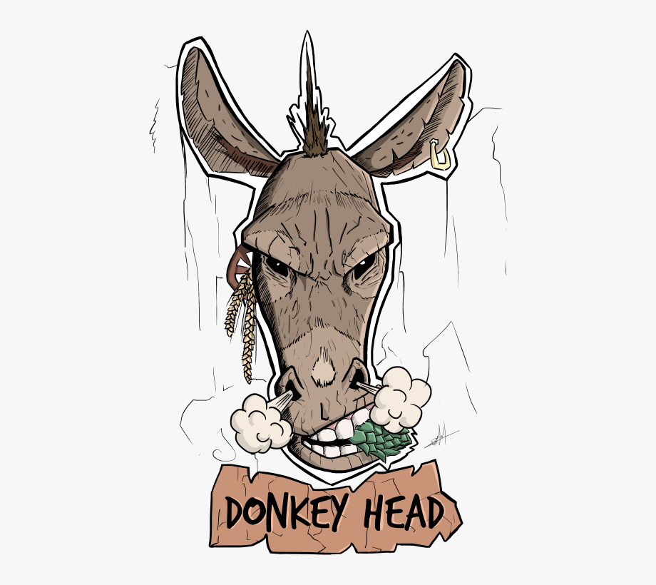 png library library Donkey head cervejaria . Mule clipart dunkey.