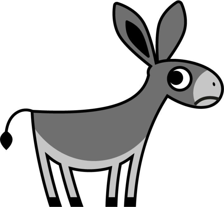 clipart free download Sad free on dumielauxepices. Mule clipart dunkey.