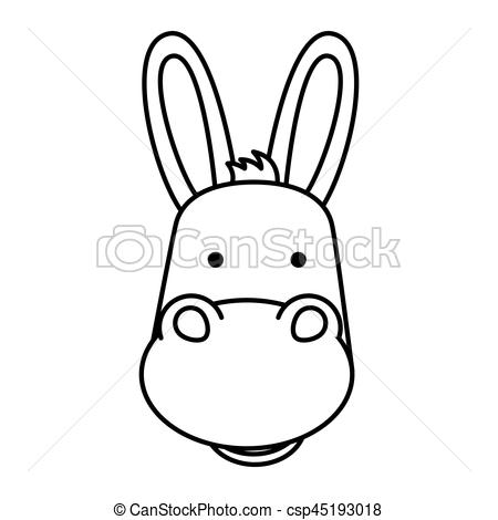 graphic transparent library Mule clipart face. Donkey drawing at paintingvalley.