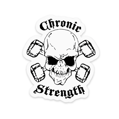 graphic transparent Chronic strength clear decals. Mule drawing sticker