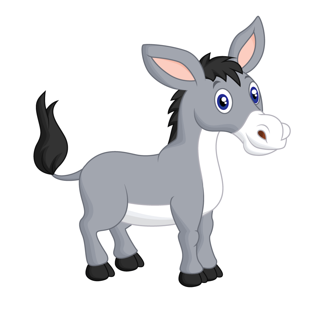 svg royalty free library Mule clipart donkey tail. Cartoon clip art dark.