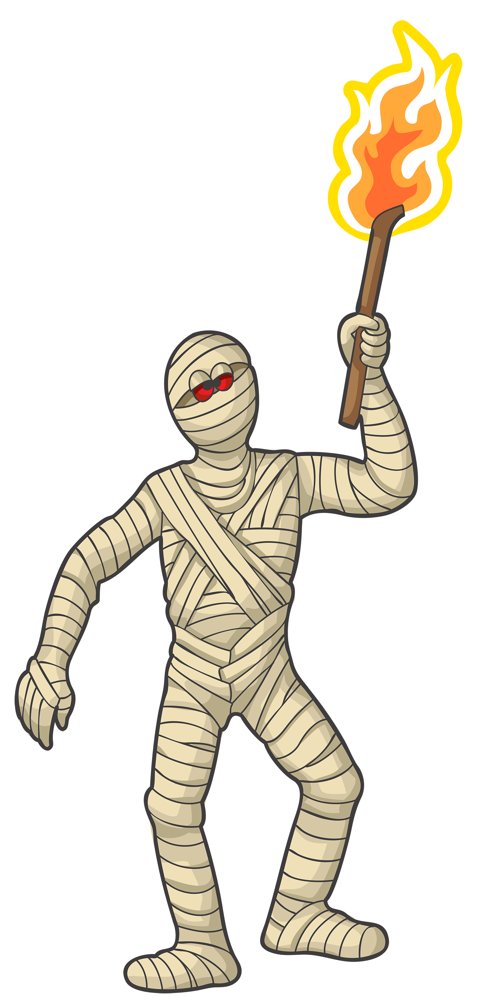 banner transparent library Mummy clipart. With torch transparent png.