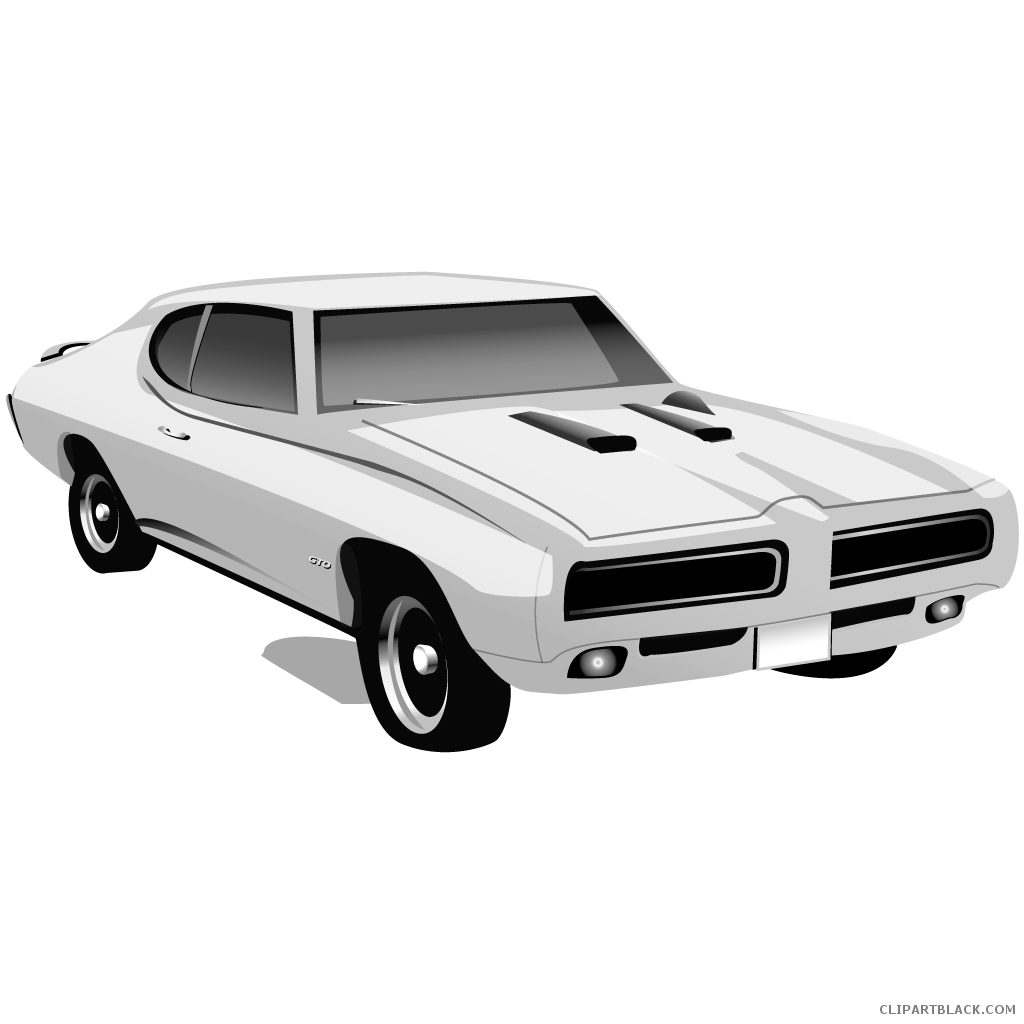 banner black and white download Muscle Car Clipart