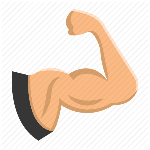 vector royalty free download Fitness by fox design. Muscle clipart hand icon.