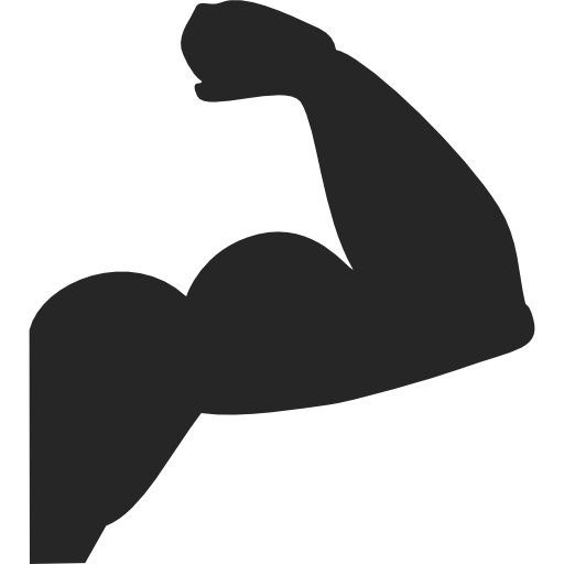 jpg library Muscle clipart hand icon. Biceps similar.
