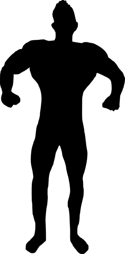 banner royalty free stock Muscle clipart silhouette. Man bodybuilder png free.